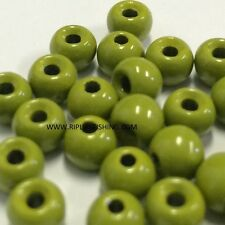 """Tungsten Fly Tying Beads Olive 3.5 Mm 1/8"""" 100 Count"""