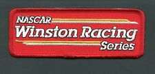 VINTAGE NASCAR WINSTON RACING SERIES IRON ON PATCH 5 INCHES LONG SEE SCAN