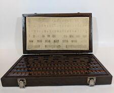 VTG Mitutoyo Gage Block Wear Block Empty Wood Case Set #BE1-81-2 Grade 2 516-902