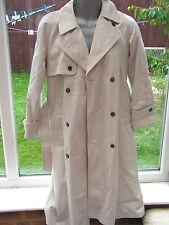 Ann Brooks (Debenhams) Ladies long length Trench Raincoat - Size 10