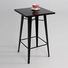 Mesa taburete, metal, color negro