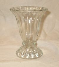 """Vintage Ice Cream Sundae Glass Footed Dish 1950s Heavy Thick Glass 5"""""""