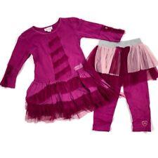 Naartjie 18-24 Months Girls Vintage Dress Top Leggings Pants Tulle Purple/pink
