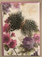 Papyrus - Mother's Day greeting card Mom Flowers Butterfly - New in Packaging