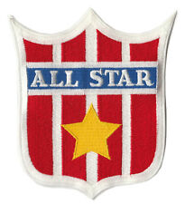 """ALL STAR 5.5"""" RED STRIPED SHIELD LOGO SPORTS PATCH"""