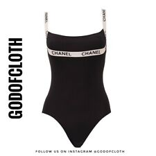 Chanel Logo One-Piece Swimsuit From 1995