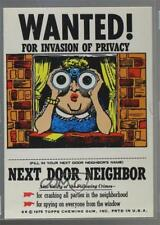 1975 Topps Wanted Stickers #NDNE Next Door Neighbor Non-Sports Card 3q4