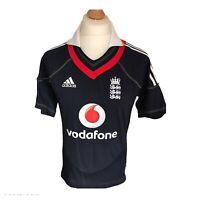Adidas England Cricket Shirt 2010 One Day International Navy Men's Small