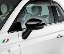 Fiat 500 Grande Punto Gloss Black Mirror Caps Covers New and Genuine 71807486
