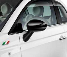 Fiat 500 Grande Punto Gloss Black Mirror Caps Covers New and Genuine 71807486
