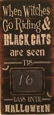Hand made and painted Wooden Halloween chalk board sign