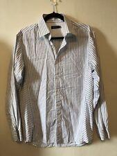 Reiss Classic Mens Shirt Blue Striped Shirt Size XL Classic Collar
