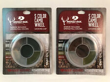 (2) Mossy Oak 5 Color Camo SPRING/FALL HUNT Face Paint w/ Mirror & Locking Cap