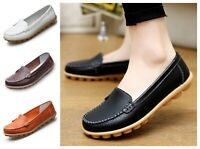 Women's Comfortable Casual Shoes Genuine Leather Flat Footwear Ladies Fashion