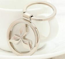 "3D Metal Car Logo Keychain 3.5cm(1.38"") Pendant Ring Key Holder For Mitsubishi"