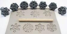 Pottery texturing ceramic clay tools: Rélyéf Snowflakes set 30 mm