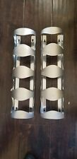 IKEA Wine Rack 4 Bottle Holder Stainless Steel Wall Mount Bar Towel (Set Of 2)