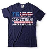 Veterans Before Refugees Political Donald Trump President 2020 Elections Shirt