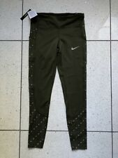 BNWT Femmes NIKE RUNNING Collants moyen! Gym Course Crossfit Olive Toile