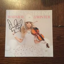 Lindsey Stirling Warmer In The Winter CD With Autographed CD Booklet