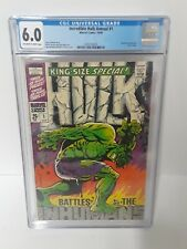 1968 Incredible HULK Annual #1 CGC 6.0 Awesome Iconic Cover