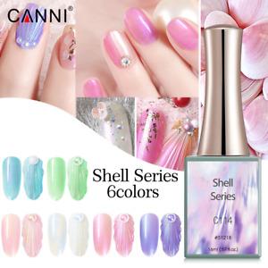 CANNI UV Nail Gel Polish SHELL SERIES Pearl Pastel Varnish Soak Off LED 16ML