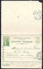 France 1915 Pc PoincarÉ sent to Villefranche sur Saone scarce!