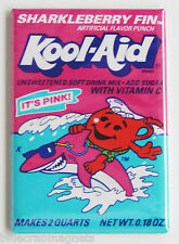 Sharkleberry Fin Kool Aid FRIDGE MAGNET (2 x 3 inches) shark berry fin packet