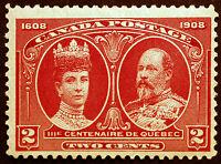 Canada #98 2c Carmine 1908 King Edward VII & Queen Alexandra  VF *MLH*