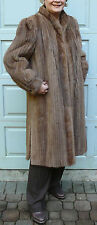 Lunaraine Mink Fur coat milk chocolate brown full length  Sz 18 XL-1X