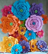 10 HANDMADE DESIGBER GIANT PAPER FLOWERS FULLY ASSEMBLED, ANY COLORS FREE SHIP