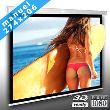 4:3 Écran de projection manuel 274cm x 206cm pour videoprojecteur HDTV 3D Neuf
