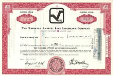 Variable Annuity Life Insurance Company > 1972 VALIC stock certificate share