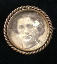 Victorian Era Picture Frame Pin / Brooch C Clasp No Glass Locket