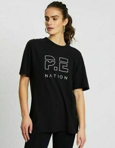 NWT Pe Nation Ladies Heads Up Tee Shirt Short Sleeve Cotton Jersey Top Size S/10
