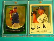 2011 Bowman Chrome CHRIS ARCHER (RC) + GREEN REFRACTOR Taylor Guerrieri RC #d/75
