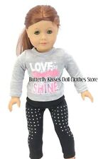 Love Sparkle Shine Legging Set 18 in Doll Clothes Fits American Girl