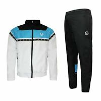 Sergio Tacchini Mens Canan Tracksuit Lounge Track Top Pants White 37957 185