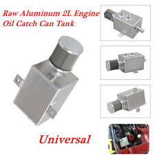 2Litres Oil Catch Can Tank Raw Aluminum+Breather & Drain Tap 2LT Baffled Tools