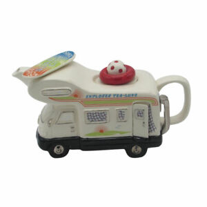 Motor Home Teapot Large Size Teapot Ceramic Inspirations Birthday Gift Ideas