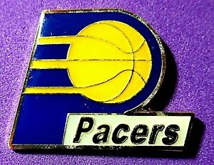 RARE VINTAGE LTD Cloisonne INDIANA PACERS lapel pin NBA BASKETBALL**