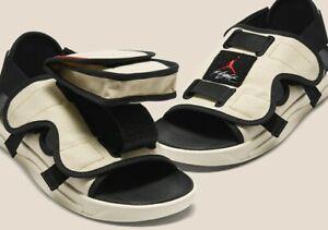 Jordan LS Slide- Beach- University Red-Black- US Sz 11- New
