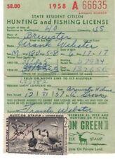 1958 RW25 Washington Hunting Fishing License Federal Duck Stamp free shipping