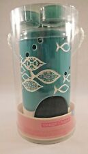 NEW Turquoise Yankee Candle Tropical Fish Luminary Tea Light Holder