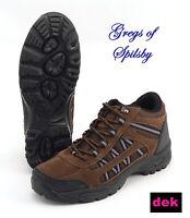 Mens Brown DEK Grassmere Trek Walking Hiking Boots Trail Shoes UK 6-12