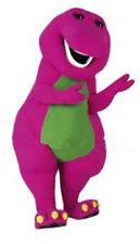 Best Barney Dinosaur Mascot Costume Cartoon Party Dress Adult Free Ship