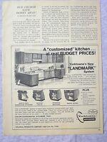 1970 Magazine Advertisement Page Yorktowne's Landmark Kitchen Wood Cabinets Ad