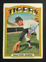 Dalton Jones Tigers signed 1972 Topps baseball card #83 Auto Autograph 1