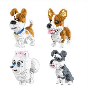 Blocksteine Hund Mike Schnauzer Husky Spielzeug Kinder Modell Geschenk Kinder DE