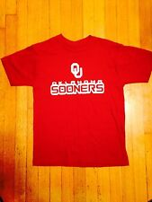 Crimson And Cream OU Short Sleeve Shirt Size Youth L